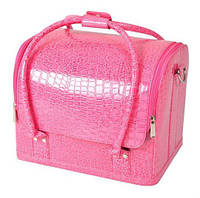 "Розовая сумка для мастера маникюра ""кожзам"""
