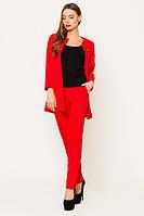 Деловой красный женский костюм Креп Leo Pride  42-48 размеры