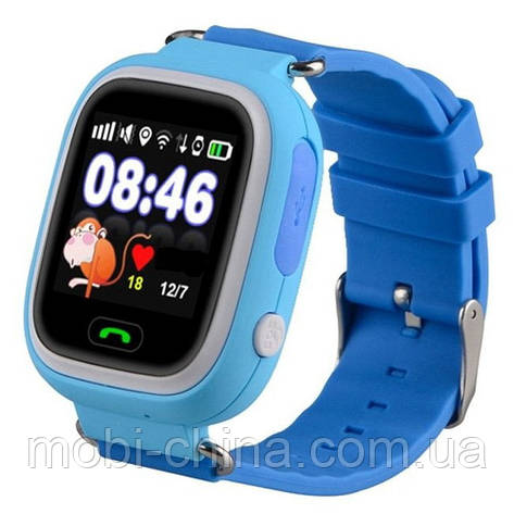 Smart Baby Watch Q90 детские смарт часы с GPS синие, фото 2