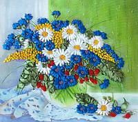 Набор для вышивания лентами Полевые цветы на окне