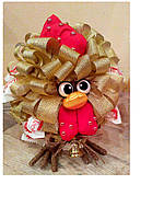 Букет из конфет ручной работы Птичка на ножках