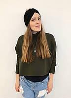 Чёрный тюрбан-шапка-повязка