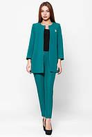 Деловой  женский  бирюзовый  костюм Креп  Leo Pride  42-48 размеры