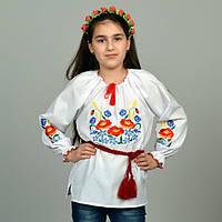 """Вышитая сорочка для девочек """"Колоски"""" KRAYKA"""