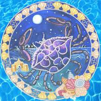 Схемы для вышивки бисером Знаки Зодиака. Рак