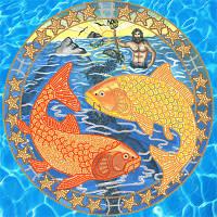 Схемы для вышивки бисером Знаки Зодиака. Рыбы