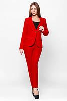 Офисный красный костюм Жанна  Leo Pride  42-48 размеры