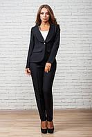 Офисный черный костюм Жанна  Leo Pride  42-48 размеры