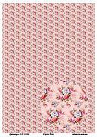 Бумага декупажная, Цветочный фон, Alizarin, 20х30 см