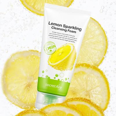 Secret Key Lemon Sparkling Cleansing Foam Эффективная витаминная пенка