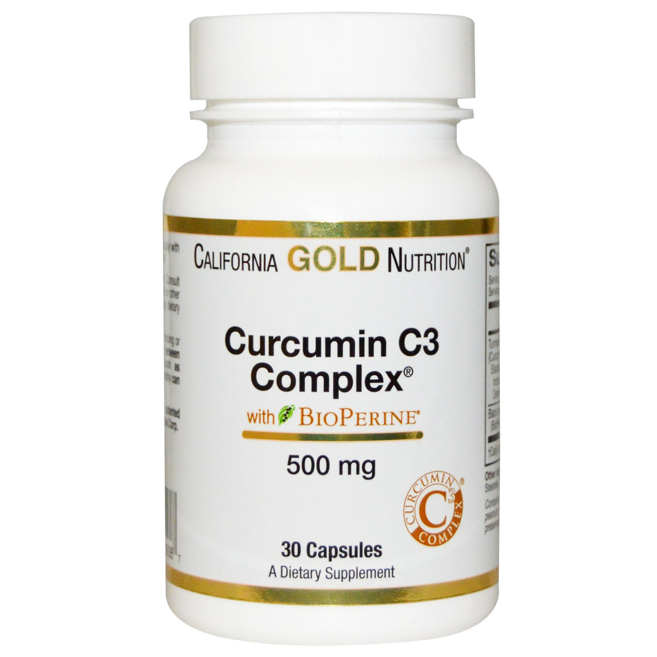 Curcumin C3 Complex 500 mg California Gold Nutrition 30 VCaps