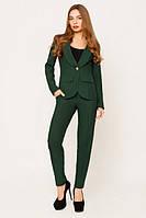 Офисный  темно-зеленый костюм Жанна  Leo Pride  42-48 размеры