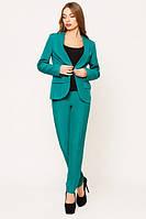 Офисный   бирюзовый костюм Жанна  Leo Pride  42-48 размеры