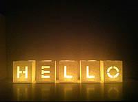Набор Светокубиков Hello 5 шт