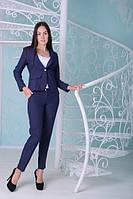 Офисный   темно-синий  костюм Жанна  Leo Pride  42-48 размеры