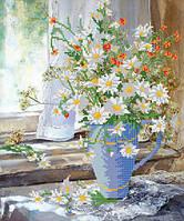 Схемы для вышивки бисером Ромашки в вазе