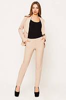 Офисный    бежевый  костюм Жанна  Leo Pride  42-48 размеры
