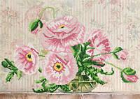 Схемы для вышивки бисером Розовые маки