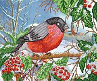 Схемы для вышивки бисером Зимняя птица