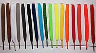 Шнурки плоские обувные 1,5м,ширина 1см,черные и цветные.