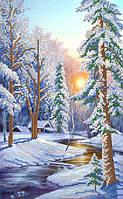 Схемы для вышивки бисером Зимний пейзаж