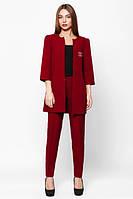 Женский бордовый  костюм Лада   Leo Pride  42-48 размеры