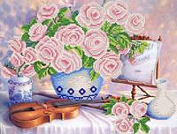 Схемы для вышивки бисером Натюрморт со скрипкой