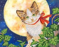 Схемы для вышивки бисером  Лунный кот