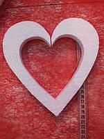 Сердце пенопластовое
