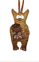 Кофейная игрушка Кот с мешком
