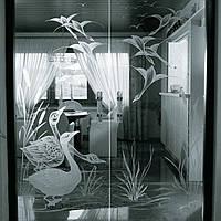 Хим травление на стекле, зеркале.
