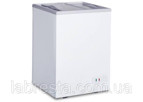 Морозильний лар 100 л (скло) GGM Gastro