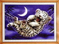 Набор для вышивки картины Тигренок 46х36см