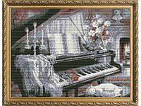 Набор для вышивки картины У рояля 58х45см