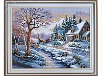 Набор для вышивки картины Зимняя Сказка 56х47см