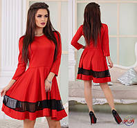 Женское нарядное красное платье