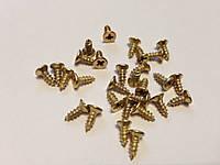 Саморезы для крепежа. Цвет золото. 3х8 мм