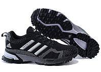 """Кроссовки """"Adidas Marathon TR 15 Black-White"""" Женские Черные-Белые Спортивные Беговые Адидас обувь спорт зал"""