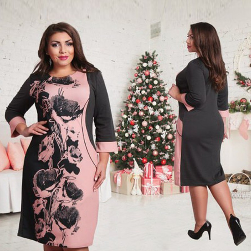 Элегантное строгое платье большого размера