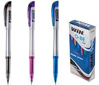 Ручка гелевая, 0.6мм, QBE, WIN син.