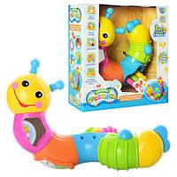 """Игрушка-погремушка для малышей """"Веселая гусеница"""" 9182 Joy Toy"""