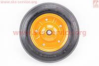 Колесо на тачку с резиной литой 3,00-7  под ось 20 мм