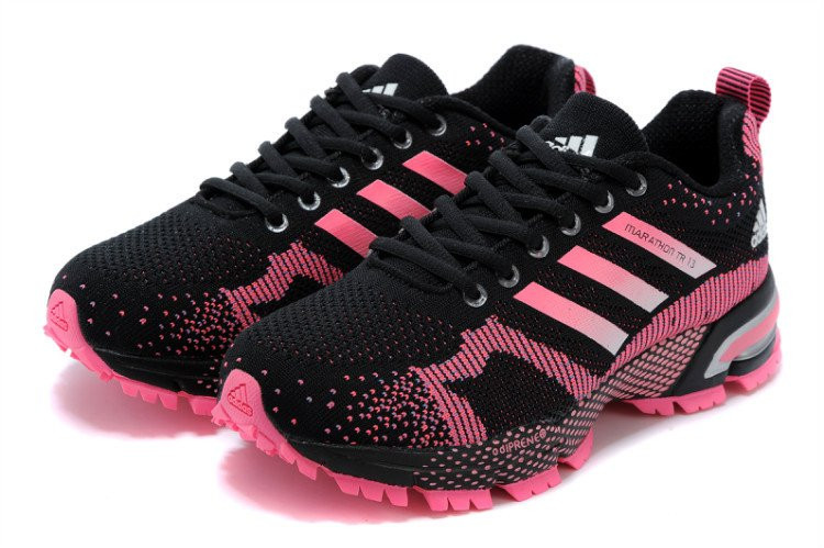 cfae4002 Adidas Marathon TR 13 Black Pink | кроссовки женские, летние, спортивные,  беговые (