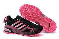 """Кроссовки """"Adidas Marathon TR 13 Black-Rose"""" Женские Черно Розовые Спортивные Беговые Адидас обувь, спорт зал"""