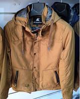 Стильная мужская демисезонная куртка беж