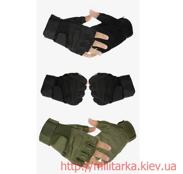 Тактические перчатки Blackhawk черные без пальцев