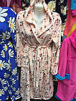 Халат женский с капюшоном (разные цвета)