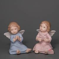 """Фарфоровые ангелочки """"Парочка"""" 7 см оригинальные рождественские сувениры"""