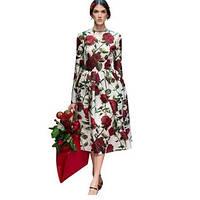 Элегантное платье,платье Luxury женское розы
