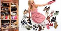 Органайзер для хранения обуви Shoes Under,размер (в собранном виде)– 60Х70Х14 см;